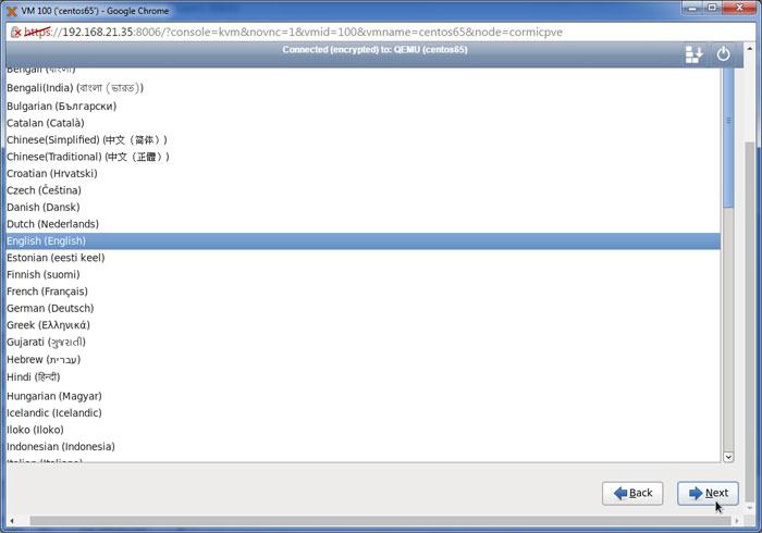 Instal guest OS pada VM Proxmox VE – PT Proweb Indonesia