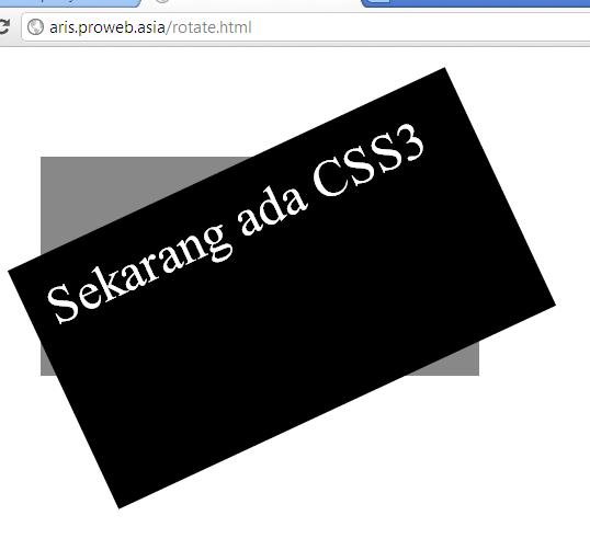 Rotasi (rotate) dengan CSS3 – PT Proweb Indonesia