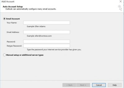 proweb email setting 1