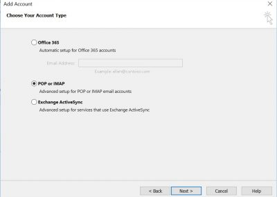 proweb email setting 3
